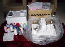 Janome Mylock Overlocker Machine Model 634D with Accessories (never used)