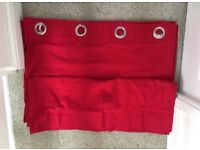 Red Eyelet Curtains - Brand New
