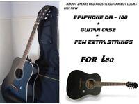 Epiphone dr-100 + case FOR SALE ASAP