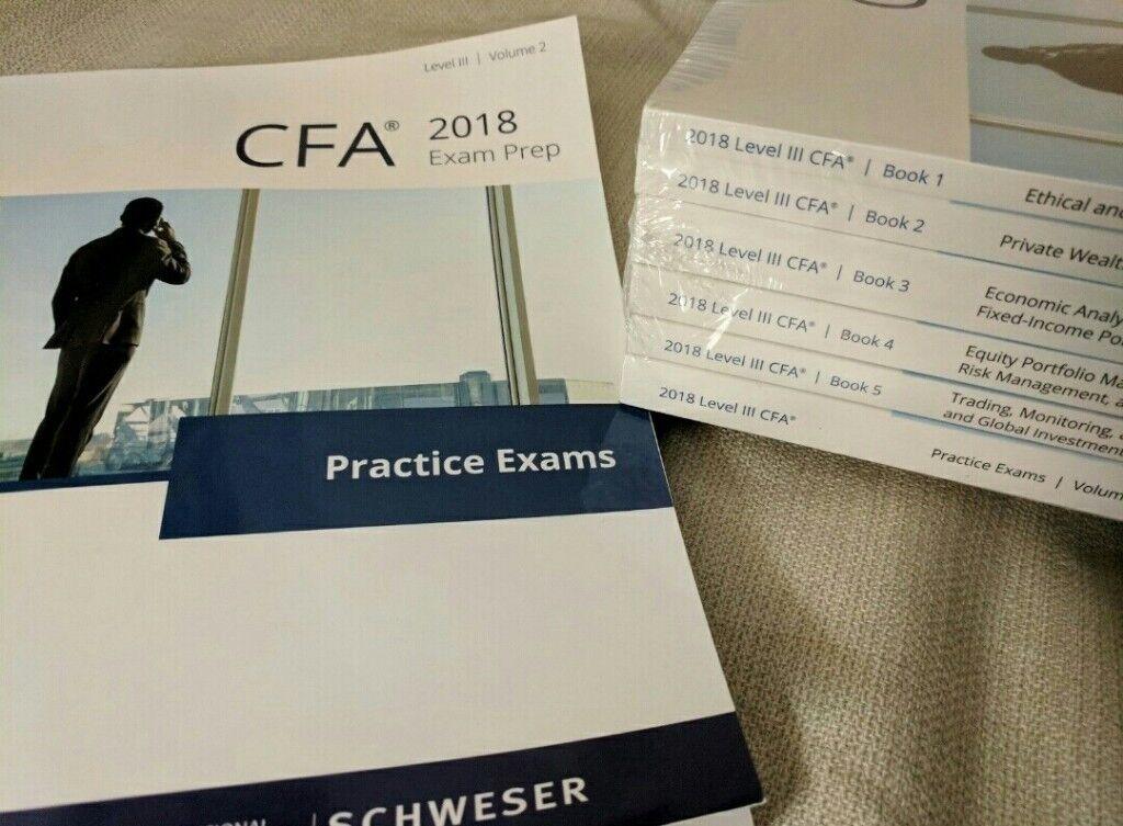 2018 cfa schweser notes + practice exams v1/v2 + quicksheet level 1/2/3 |  in City of London, London | Gumtree