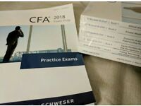 2018 cfa schweser notes + practice exams v1/v2 + quicksheet level 1/2/3