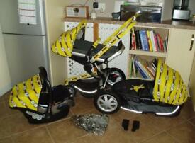 Quinny Buzz 3 Complete Travel System Black With Minions Customs