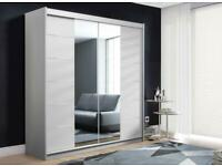 🔥🆕 STYLISH NEW 2 AND 3 DOORS SLIDING WARDROBE WITH FULL MIRRORS, BOOK NOW!!