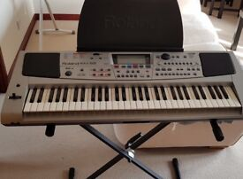 SOLD - Roland EM 55 electronic keyboard with stand