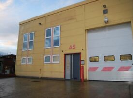 First floor mezzanine level of portal frame industrial warehouse unit available - 65 sq m.