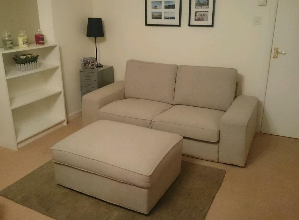 Ikea Kivik 2 Seater Sofa And Storage Footstool. Like Corner Sofa