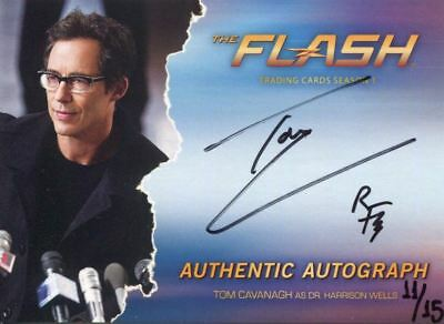 The Flash Season 1 Autograph Card TC1 Tom Cavanagh as Harrison Wells Rev. Flash