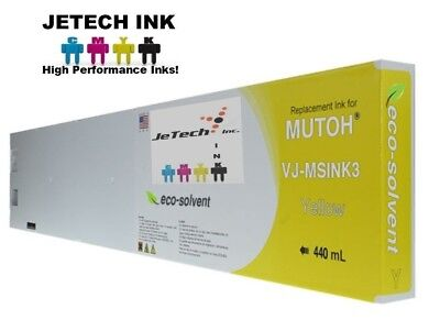 Mutoh Vj-msink3 Eco Solvent Compatible 440ml Ink Cartridges - Yellow