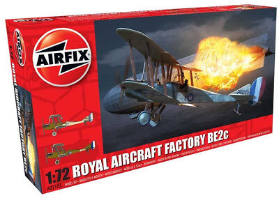 Airfix Royal Aircraft Factory BE2c 1:72 Scale Plastic Model Airplane A02101