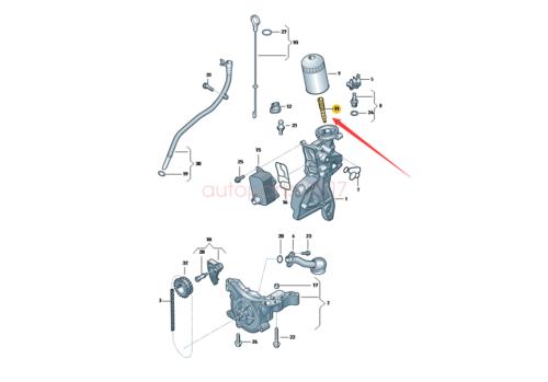 OE Engine Oil Filter Retaining Adapter For Audi VW Skoda Seat 2.0L 06J115679E