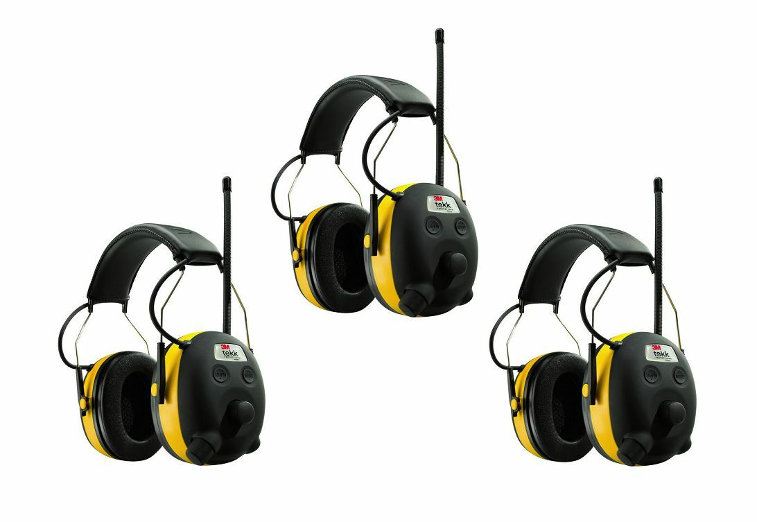 (3) PELTOR WORKTUNES Digital AM FM MP3 Radio HEADPHONES