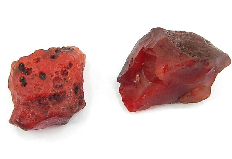 100.00 Ct Natural Orange Carnelian Loose Gemstone Rough Lot of 2 Pcs  - RH1567