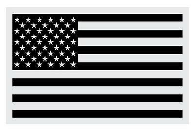 """Black American Flag Very Small Reflective Helmet Decal (1.25"""" & 2"""" approx)"""