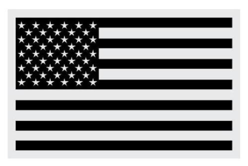 "Black American Flag Medium Large Reflective Decal 3 X 5"""
