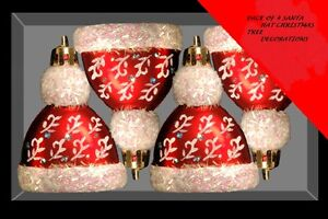 Pack-of-4-Santa-Hat-Christmas-Tree-Baubles-Christmas-Decorations-DP46-A