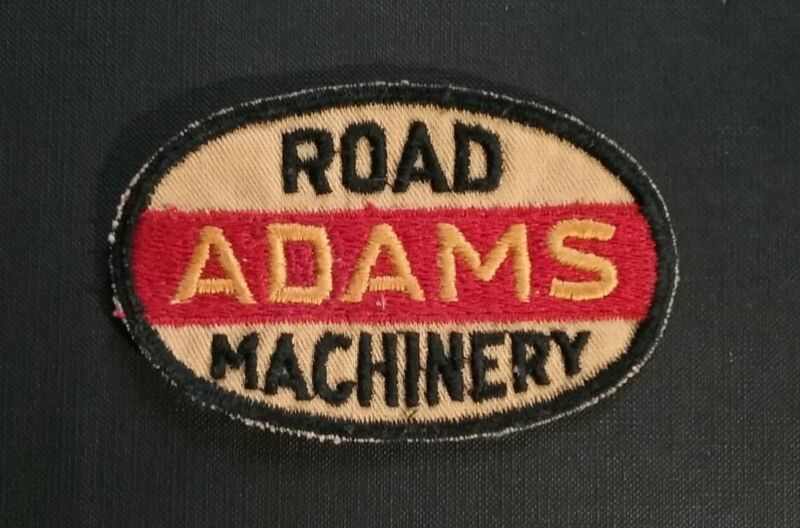 Vintage ADAMS ROAD MACHINERY Embroidered Uniform Patch Circa 1950s
