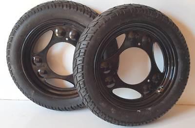 2x Rad Reifen Räder Scheibenrad Komplettrad Simson Roller SR50 SR80 VRM094