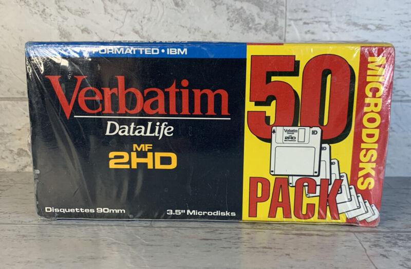 Verbatim DataLife MF 2HD Microdisks 50 Grey 3.5 Floppy Disks