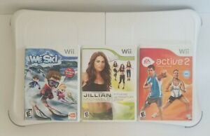 Wii Balance Board Nintendo (Board Only) RVL-021. With 3 Games/ Tested & Working