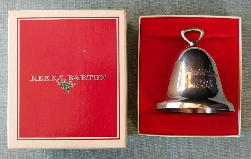 REED & BARTON 1985 CHRISTMAS SILVER PLATED BELL