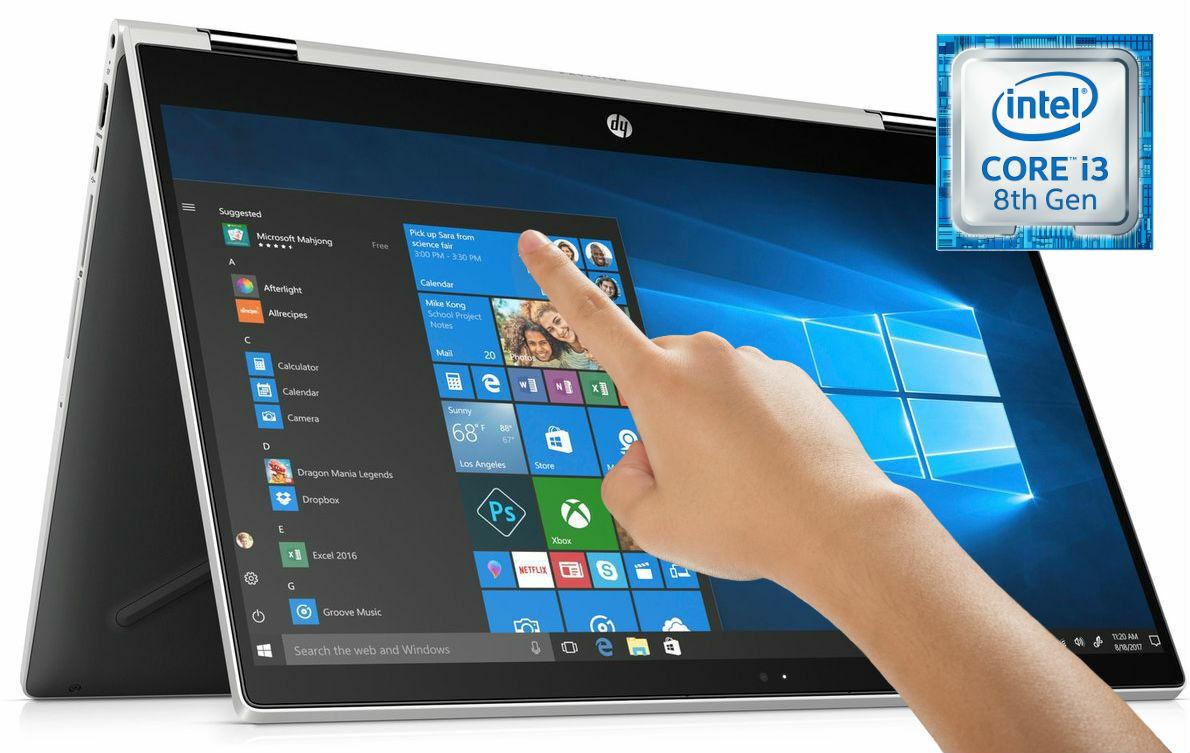 HP x360 15.6 Full-HD TouchScreen Convertible Laptop 20GB Core i3 3.40GHz 1TB HD