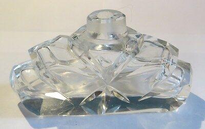 Flacon ciselé en verre – sans bouchon