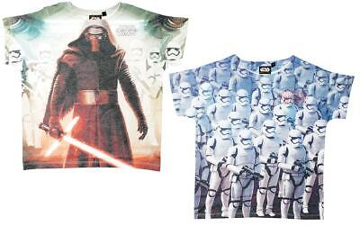 Boys tshirt Star Wars Tee Kylo Ren Storm Trooper Kids T-Shirt Top 4 to 10 Years
