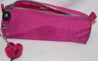 """Kipling Freedom Pink Pencil Pouch Case w/Monkey """"Emma"""""""