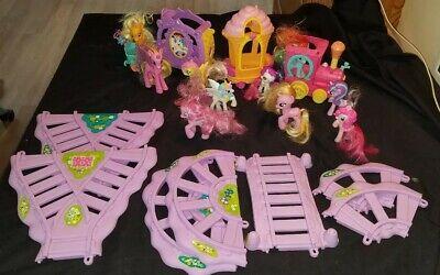 My Little Pony Friendship Express Train Set Car Tracks Motorized plus 10 Ponies