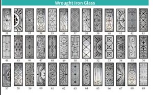 FREE INSTALLATION FOR WROUGHT IRON DECORATIVE DOOR GLASS INSERT