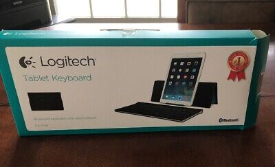 Logitech Tablet Keyboard for iPad Bluetooth Pouch/Stand with Box