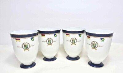 Porcelain CUSTARD CUPS Cobalt Blue w Gold Trim City Collection Pacific SET OF 4 Cobalt Blue Dinnerware Collection