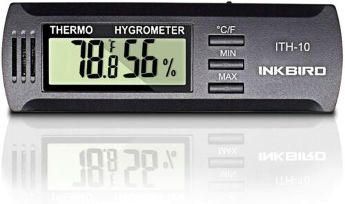 Inkbird Humidity TemperatureThermometer Hygrometer Humidors Household Guitar US