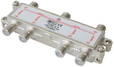 6-fach SAT Verteiler Splitter 5-2500MHz 100dB digital Kabel TV DVB-T HDTV UKW
