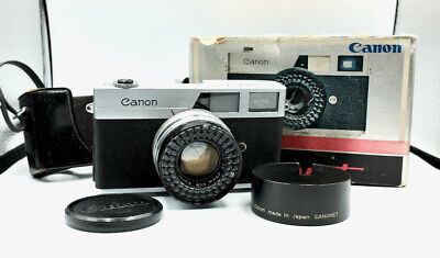 Vintage CANON CANONET 35mm film Rangefinder Camera with half case and hood