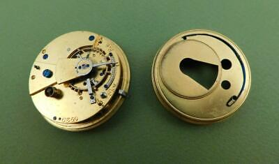 Antique Victorian Fusee Fob Pocket Watch Movement Spares Repair