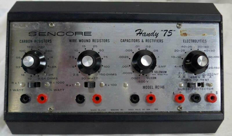 Sencore Handy 75 Model RC146 Resistor Capacitor Substitution Box