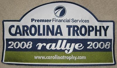 Carolina Trophy Patch   2008 Rallye    Premier Financial Services   Large Size