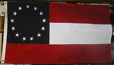 COTTON 13 Star Flag, Southern Civil War Flag, 1st National F