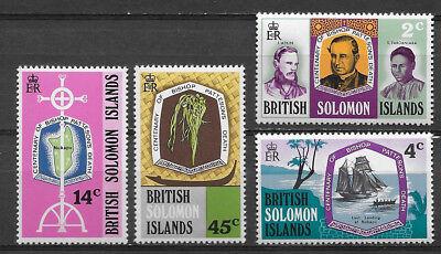 BRITISH SOLOMON ISLANDS , 1971 , BISHOP PATTERSON,  SET OF 4 , PERF , MNH