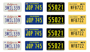 1:25 scale model car California license tag plates