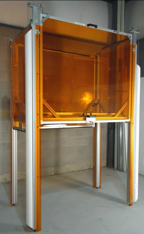 7737: Custom Laser Enclosure W/sliding Doors
