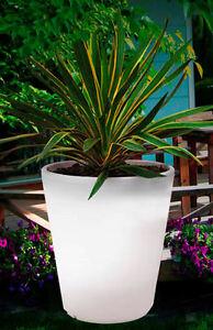 LED Solar Blumenkübel 39,5cm - Solarkübel beleuchteter Pflanzkübel Blumentopf