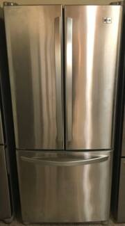 LG Steel 591L Fridge and Freezer /3 Months warranty Y078