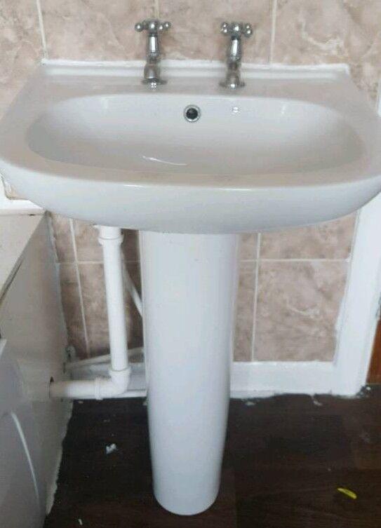 Bargain bath, toilet and sink