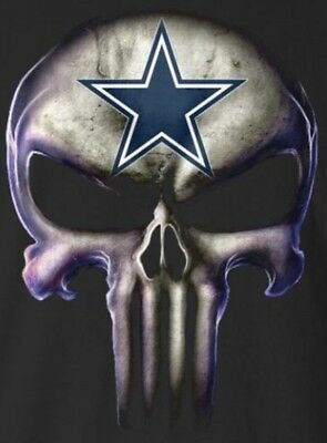 2  Dallas Cowboys Punisher Skull Vinyl Stickers 5X3 7 Car Window Decal Logo Nfl