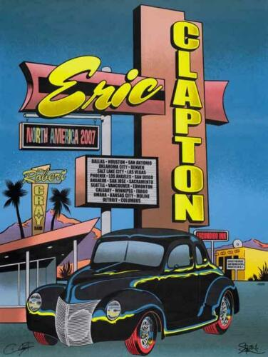 ERIC CLAPTON 2007 USA TOUR POSTER HAND SCREEN PRINTED by FIREHOUSE 40 FORD