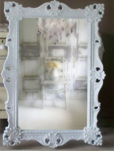 NEW ROCOCO mirror EXTRA LARGE in box/ miroir shabby chic blanc