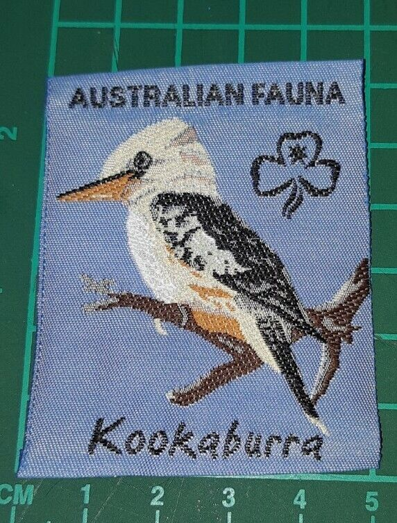 Australian Fauna Girl Guide Badge. - Kookaburra