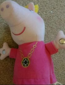 Large singing Peppa pig teddy